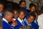 Learners doing the exercise of smelling for their baby bats